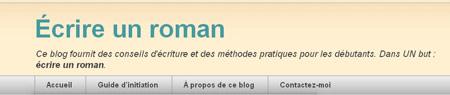 Le blog Ecrire un roman .com