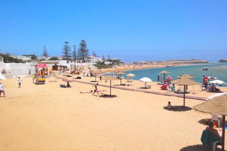 La plage de Oualidia en été
