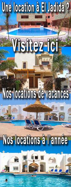 Location de vacances ou en longue durée à El Jadida