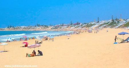 La plage de Sidi Bouzid tout près d'El Jadida