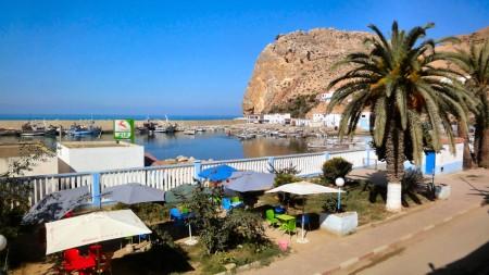 Port d'El Jebha pris de l'hôtel El Mamoun