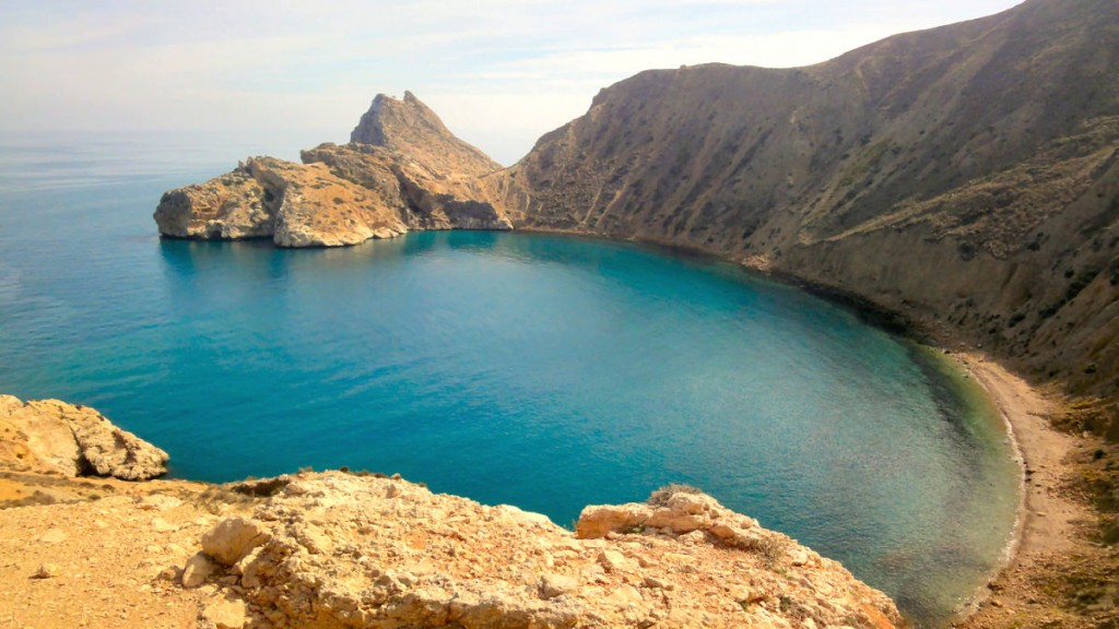 Baie près d'El Jebha sur la côte méditerranéenne