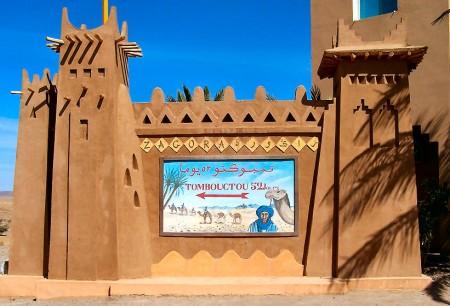 """Porte du désert"" à Zagora"