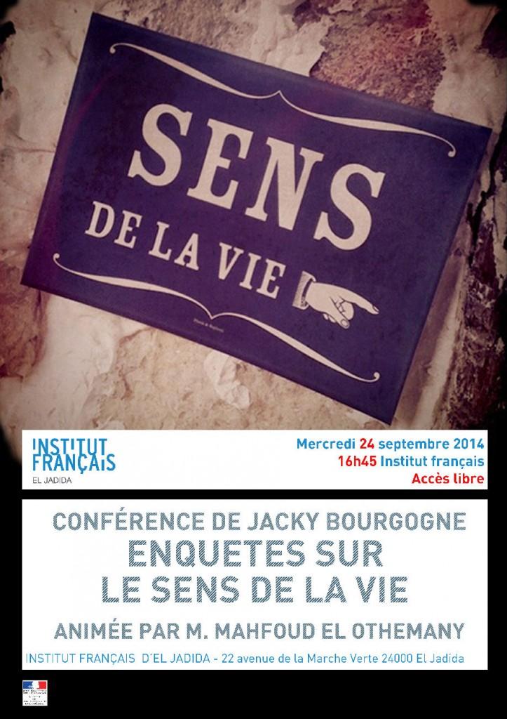 Affiche conference sens de la vie