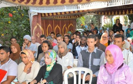 Le public essentiellement composé d'étudiants Marocains