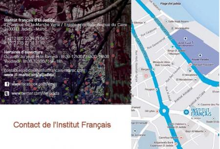 Contact et plan de l'Institut Français d'El Jadida