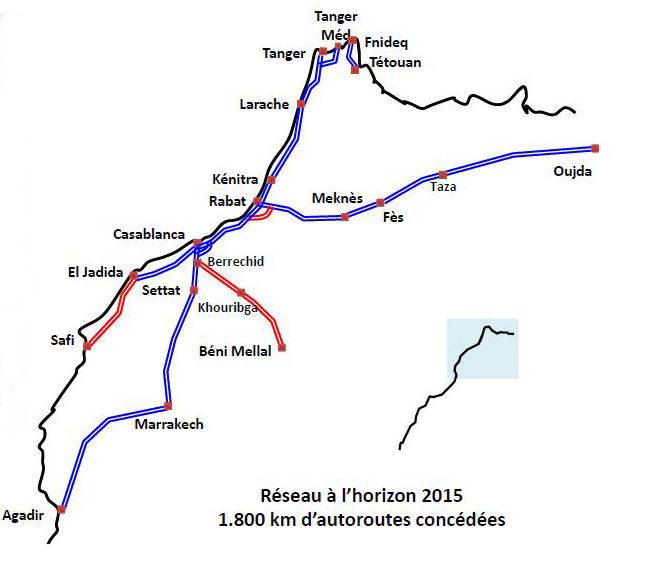 Réseau Autoroutier Du Maroc El Jadida Par Lautoroute