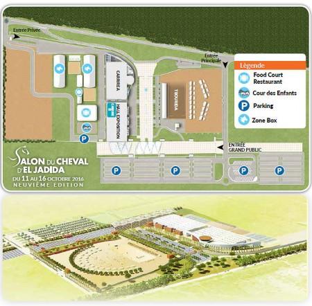 Plan salon du cheval au parc des expositions